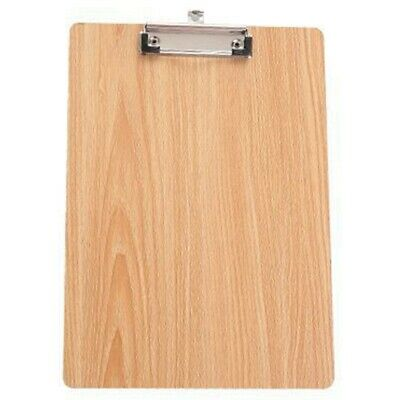 A4 Size Wooden Clipboard Clip Board Office School Stationery With Hanging H O6K3