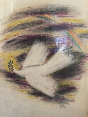 LISTED ARTIST REUVEN RUBIN (1893-1974) ORIGINAL LITHOGRAPH Hand Signed Numbered