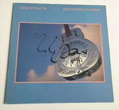 Mark Knopfler Hand Signed Dire Straits Brothers In Arms Vinyl Rare