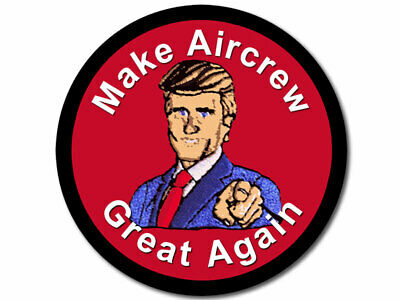 4x4 inch Round Make AIRCREW Great Again Sticker (us trump navy naval airmen air)