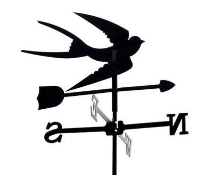 Standard Swallow Metal Weathervane (Vertical Fixing Bracket)