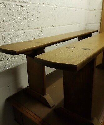 2 X Solid Wood Dining Benches. Rustic French Country.