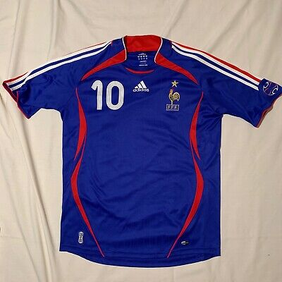 daaa2cf497a 2006 ADIDAS FRANCE World Cup Zinedine Zidane Jersey Short Sleeve ...