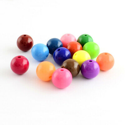 500g Colorful Chunky Bubblegum Round Acrylic Beads for Jewelry Making Craft