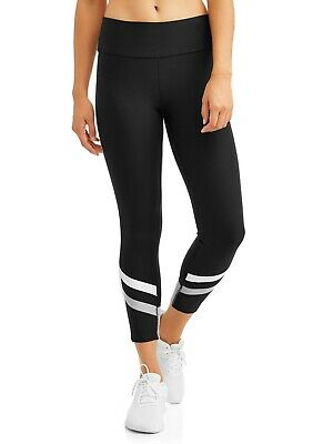 fc559b6587b410 Avia Womens Active Chevron Performance Crop Legging L/G (12-14) Black