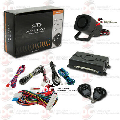 Avital 3100Lx 3 Channel Car Alarm System W/ 2 Keyless Entry Remotes Plus Siren