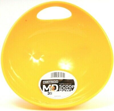 1 WetNoz Come & Get It Medium 3 Cup Scoop & Serve Dishwasher Safe Yellow Bowl