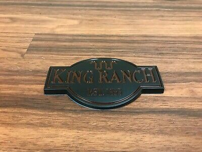 New Ford F150 F250 Expedition Fender Tailgate King Ranch Emblem Logo Badge Black