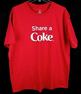 fd102dfb0 COCA COLA T Shirt Share A Coke This Summer Red Size Extra Large XL ...