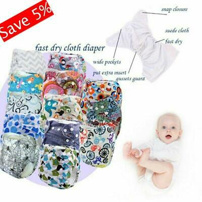 Cute Newborn Infant Reusable Cloth Diapers Cover Baby Nappy Washable Adjustable