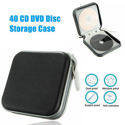 40 Disc Double Side CD DVD Organizer Holder Storage Case Hard Wallet Games Disc