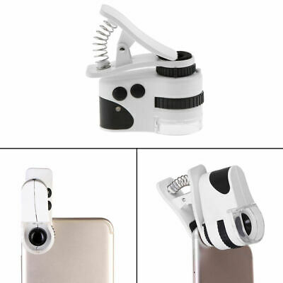 Clip On 50x for Smart Mobile Phone Camera Magnifier Microscope Loupe LED BTH