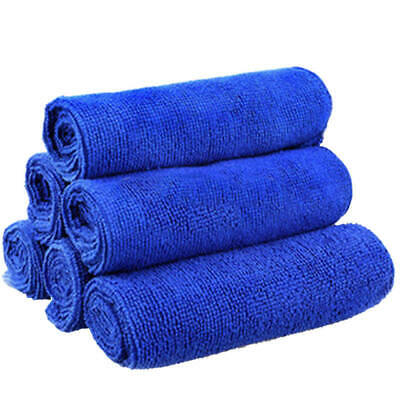 50 X Microfiber Cleaning Cloth Blue Towel Set For Car Polishing Auto Det tyu