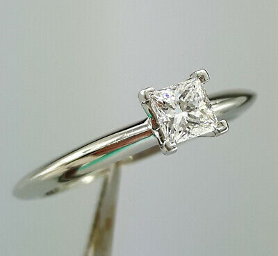 37f472a6d 0.30ct F VS1 Tiffany & Co. Platinum Diamond Engagement Ring Solitaire Size  6 5