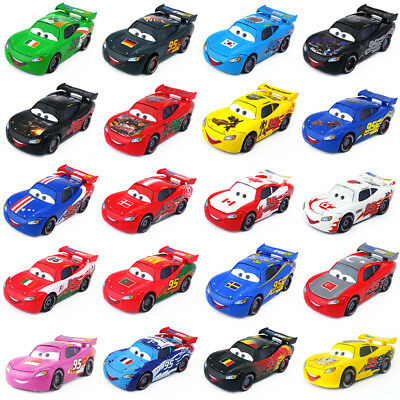 Disney Pixar Cars No.95 Lightning McQueen Toy Car 1:55 Loose Boys Gift