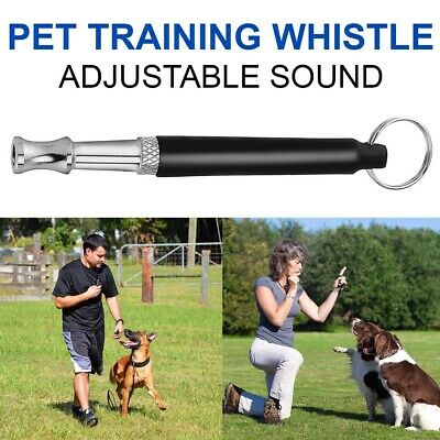 Dog Puppy Training Whistle Silent Ultrasonic Sound Pitch Adjustable Black A++