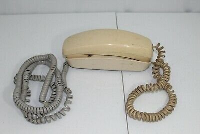 Vintage Western Electric Trimline Rotary Dial Desk Telephone Beige Tested Works