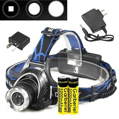 50000LM LED Headlamp Rechargeable Headlight CREE XM-L T6 Head Torch lamp camp