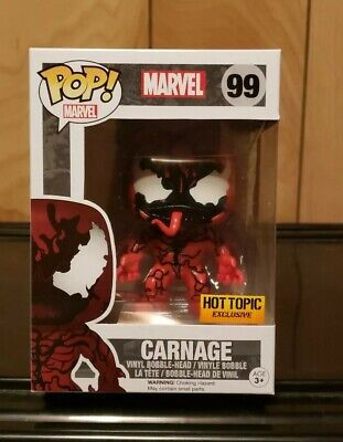 Funko Pop! Marvel Carnage #99 Hot Topic Exclusive w/ Soft Protector