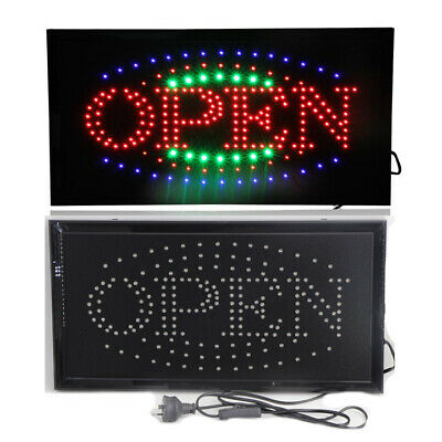 LED OPEN CLOSED sign Business advertising board flashing shop led sign
