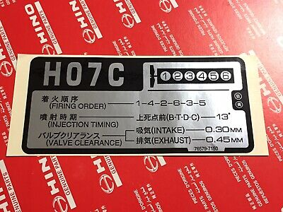 NEW GENUINE HINO stick on Emblem Decal H06CT H06C-T - $19 95