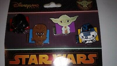 Booster/Set 4 Pins Disney Disneyland Paris : Star Wars Cuties (Retired)