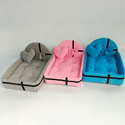 Pet Bed Puppy Cushion House Warm Kennel Dog Mat Blanket Small Medium Dogs