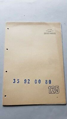 Moto Guzzi 125 Turismo 1975 catalogo ricambi ORIGINALE spare parts catalogue