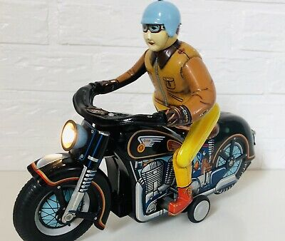 Rare Masudaya Expert Motorcycle, Tin Toy 1950's Japan
