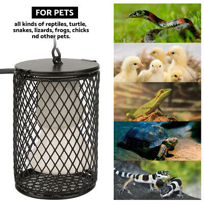 Reptile Ceramic Heat Lamp Holder & Light Switch Cage for Snake Chicken Brooder