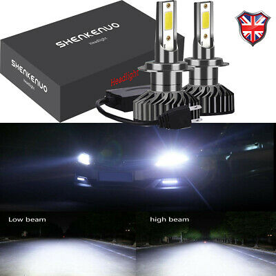 Pair CANBUS 100W H7 11000LM LED Headlight Kit Low Beam Bulb White Ultra Bright