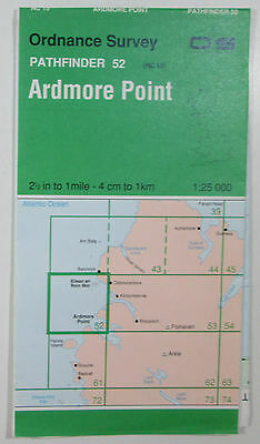 1965 old vintage OS Ordnance Survey 1:25000 Pathfinder map Ardmore Pnt 52 NC 15