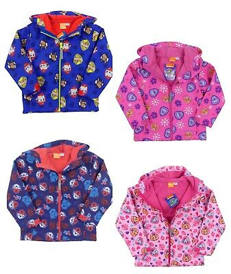 Boys and Girls Paw Patrol Lightweight Jacket Fleece Lining 2-3 and 4-5 Years