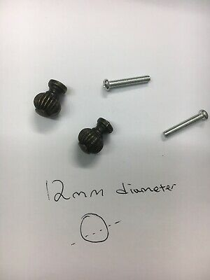 2 Bureau drawer Handles,tiny Bronze Knobs,drawer pull,Antique Vintage Handle X2