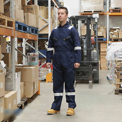 Walls FR Flame Resistant Work Wear Overalls Coverall Boiler Suit Navy Royal Blue