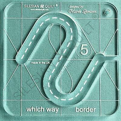 Template for quilting - Which Way Border series 5 (template fits to FMQ Grip5)