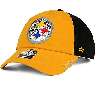521355b80ce715 Pittsburgh Steelers '47 Brand NFL Womens Sparkle Adjustable Strapback Cap  Hat