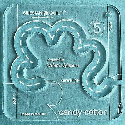 Template for quilting - Candy Cotton series 5 (template fits to FMQ Grip5)