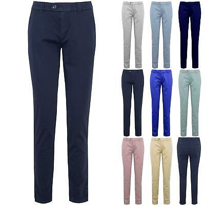 New Ladies Womens CHINO Stretch Casual Skinny Slim Fit Stretchy Pocket Trouser
