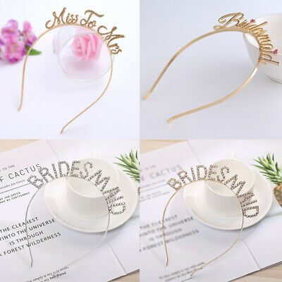 Bridal Bridesmaid Hairband Headband Hair Accessory Golden Wedding Prom Jewelry