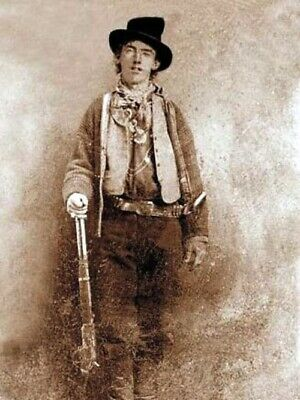 Old West Cowboy Vintage Antique Western Billy the Kid Photo Picture 8x10