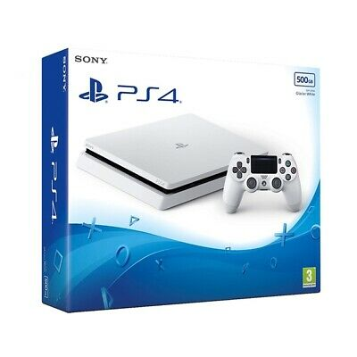 PS4 White Console 500GB Console with Marvel's Spider-Man NEW & SEALED