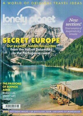 Lonely Planet Magazine June 2019 Buenos Aires ~ Secret Europe ~ New ~