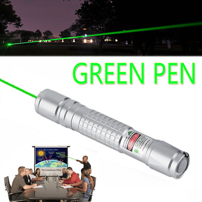 Portable Green Laser Pointer Pen Single Point Visible Beam Rechargeable Lazer