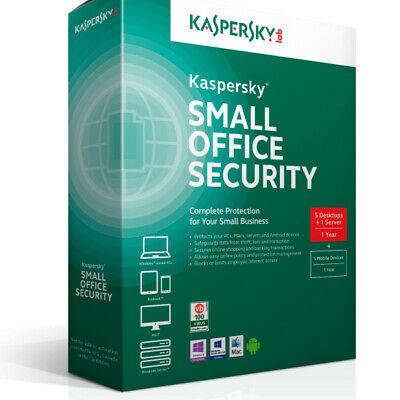 KASPERSKYY SMALL OFFICE SECURITY 6.0 1 Server + 5 client (5 DT + 5 MD) 12 MESI K