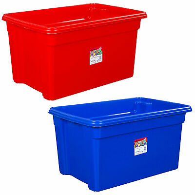 Wham Stack & Store Storage Strong Plastic Boxes For Home Office - Choose Size