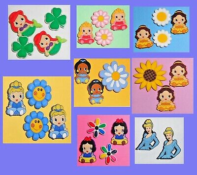 Princess & Horse pony Shoe Charms Shoe Buttons  Shoe Decorations Cake Toppers