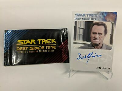 2017 Star Trek Deep Space Nine DICK MILLER as VIN Signed Autograph Card CABP05