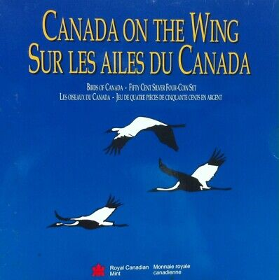 1995 Canada Sterling Silver .925 'Canada On The Wing'  2 Coin 50¢ Set
