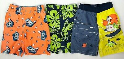 d5af6b1c01 The Childrens Place Boys Size 4T Swim Trunks Shorts Bathing Suit LOT of 3